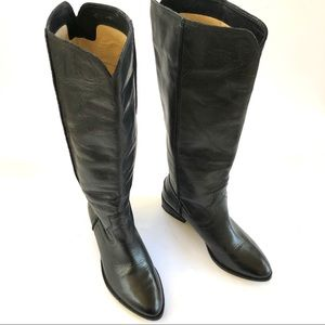 Frye Ray Seam Tall Leather Boot in Black